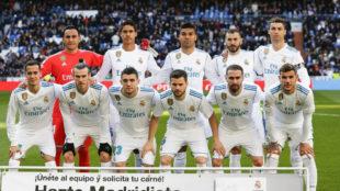 El once del Madrid contra el Leganés