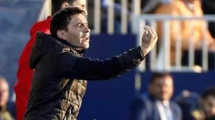 Garitano, durante el partido ante Las Palmas.