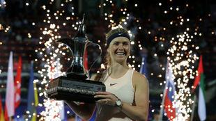 Svitolina, con el trofeo de Dubái