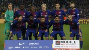 Once titular del Barcelona ante el Girona.