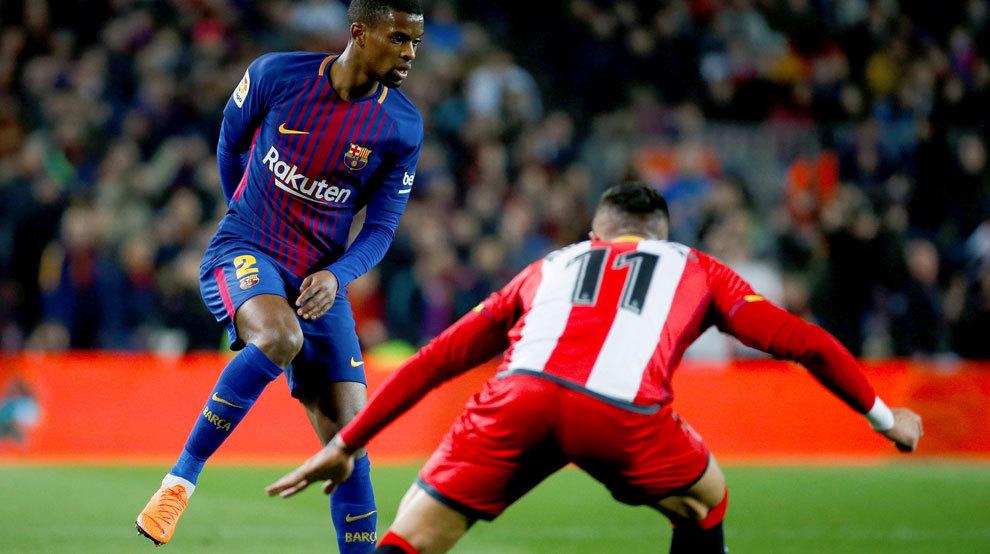 Semedo durante el partido ante el Girona.