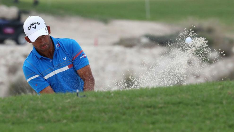 Pablo Larrazábal durante la última jornada del torneo de Doha.
