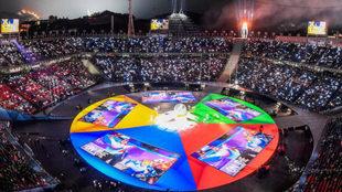 Panorámica de la ceremonia de clausura de los Juegos de Pyeongchang