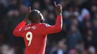 Lukaku celebra su gol al Chelsea.