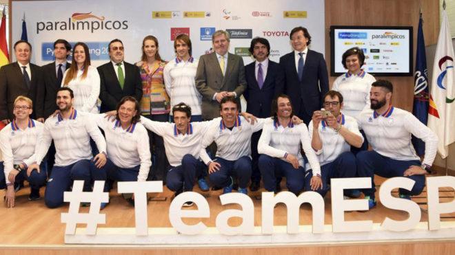 El equipo paralímpico español que acudirá a Pyeongchang junto a las...