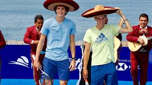 El australiano, Dominic Thiem  y el alemán,  Alexander Zverev