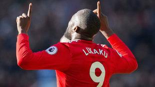 Lukaku celebra su gol ante el Chelsea