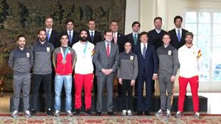 Los olímpicos españoles en Pyeongchang con Mariano Rajoy.