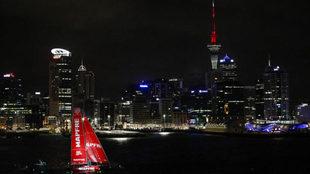 El MAPFRE a su llegada a Auckland