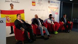 Frank González, Alejandro Blanco, Regino Hernandez y May Peus