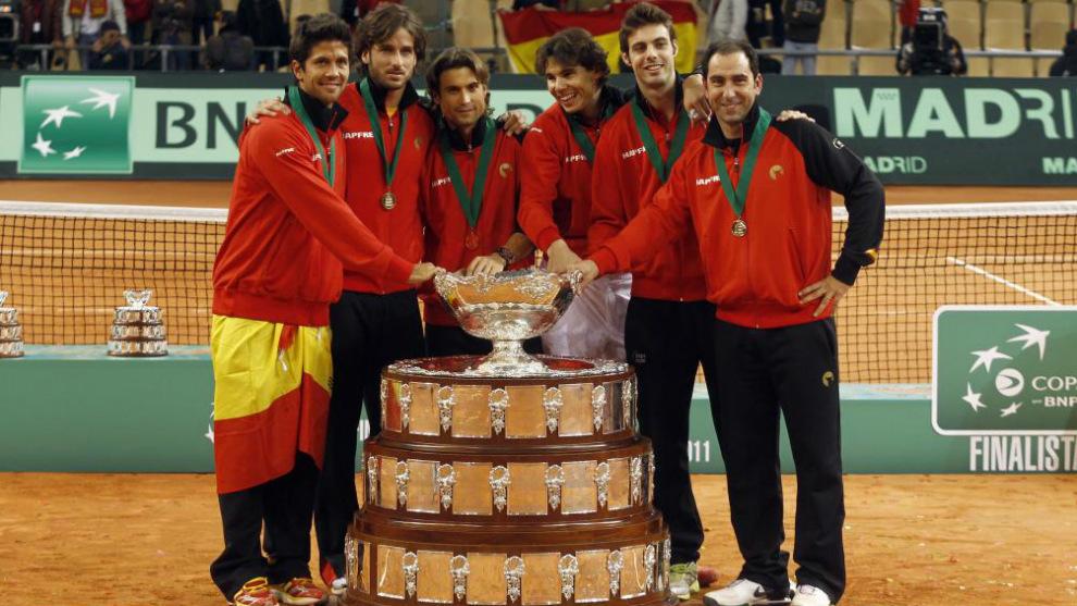 El Equipo Espanol Campeon De La Copa Davis En