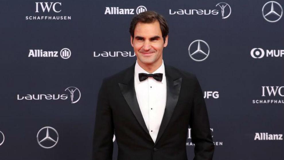 Roger Federer, en la alfombra roja de los Laureus.