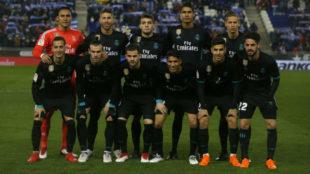 El once del Real Madrid en el partido de Liga ante el Espanyol