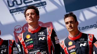 Los dos hombres de Hyundai, el pasado año, en Portugal, la última...