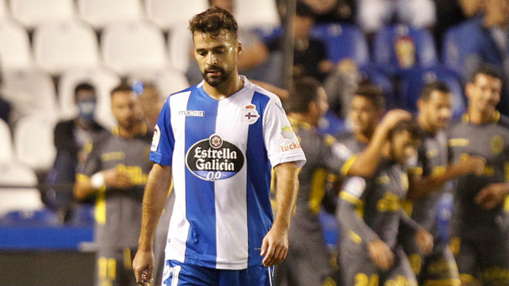 Bruno Gama durante un partido con el Deportivo