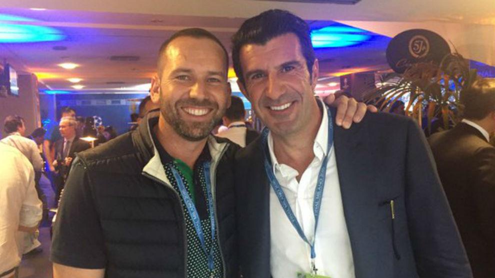 Sergio García y Luis Figo.