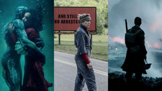 Nominaciones Oscars 2018: 'La forma del agua', 'Dunkerque' y 'Tres...