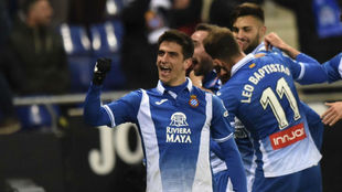 Gerard Moreno celebra el tanto contra el Real Madrid.