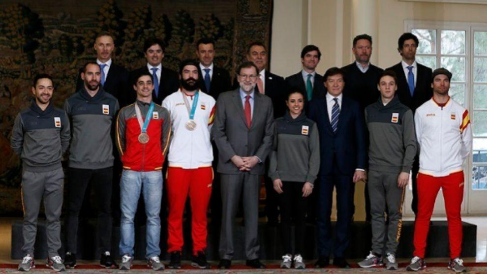 Buena parte del equipo español que participó en los Juegos de...