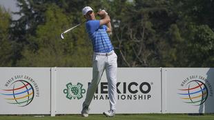 Jordan Spieth en un evento promocional previo al WGC-Mexico...