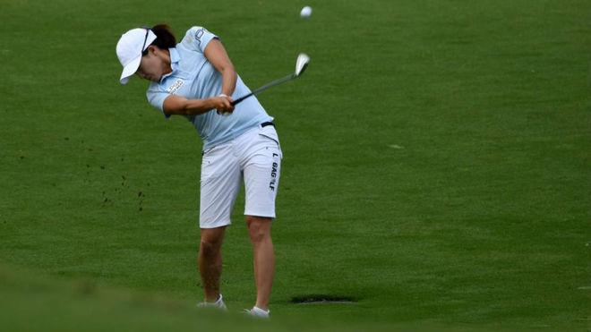 Jennifer Song, durante la primera jornada del campeonato