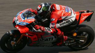 Jorge Lorenzo, sobre la GP18.