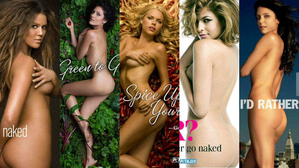 Every celebrity who posed nude for peta anti