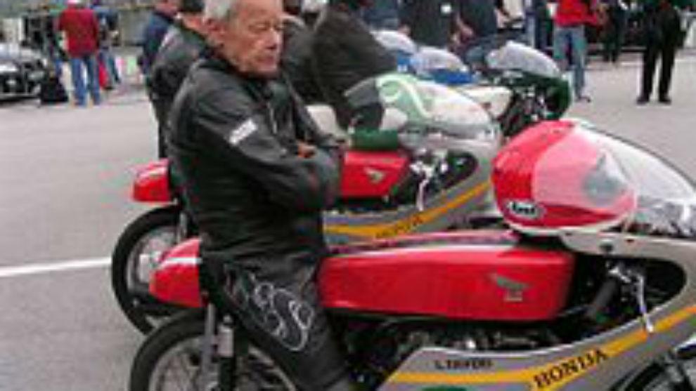 Luigi Taveri, en 2006 en Sachsenring.