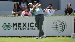Abraham Ancer durante la primera ronda del WGC Mexico Championship.
