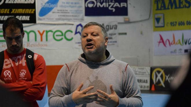 Julián Ruiz, en su primer entrenamiento.