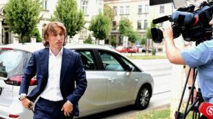 Modric, en 2017, cuando acudió a declarar al juzgado de Osijek