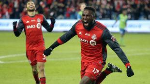 Así celebró Altidore el gol del triunfo de la MLS.