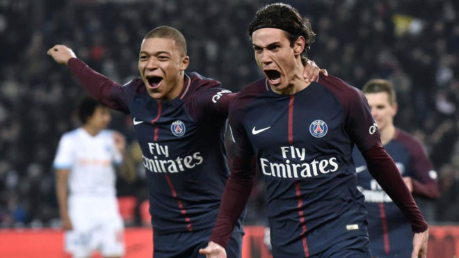 Champions league psg vs real madrid mbappe cavani and for Championship league table 99 00
