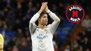 Ronaldo, en el momento de ser sustituido.