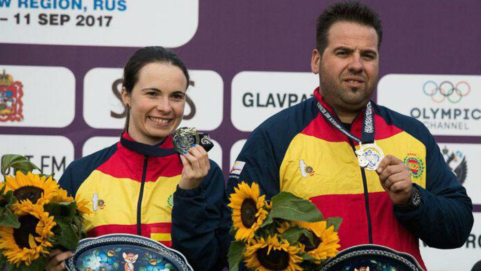 Beatriz Martínez y Antonio Bailón, subcampeones del mundo.