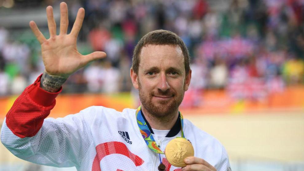 Bradley Wiggins, tras ganar el oro en persecución por equipos en los...