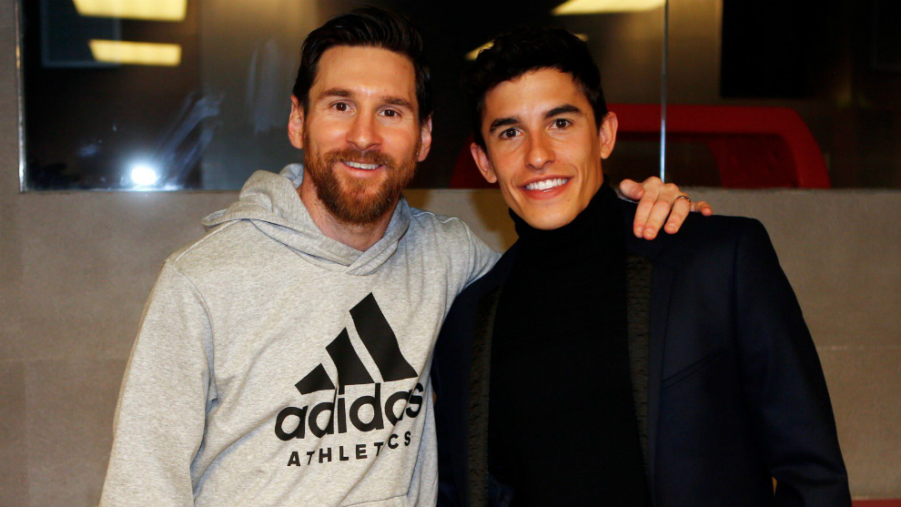 Marquez with Messi.