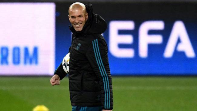 Zidane, en el Parque de los Príncipes.