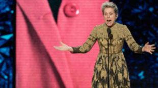 La actriz ganó el Oscar a mejor actriz en la 90º edición de los...