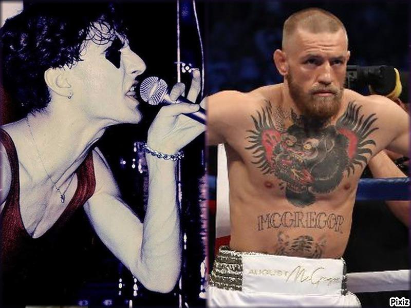 El cantante Ramoncín y el luchador Conor McGregor