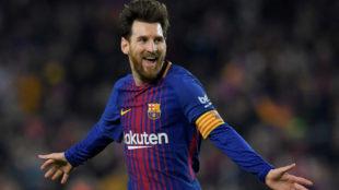 Messi celebra un gol del Barcelona.