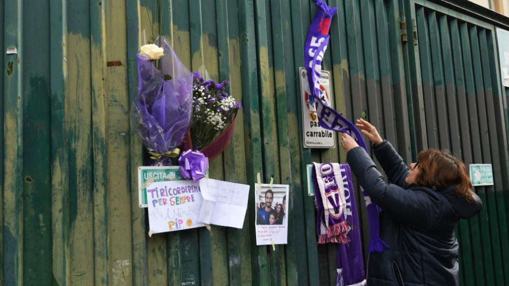 Serie A: La plantilla de la Fiorentina homenajea a Astori en su ...