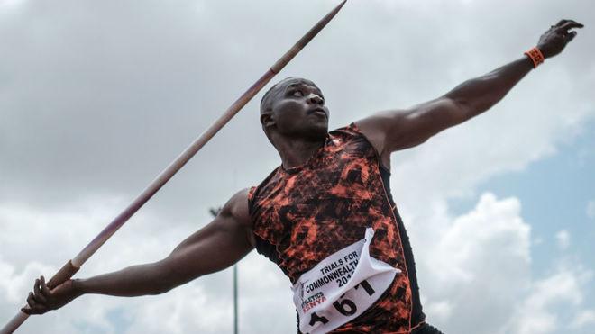 El keniata Julius Yego, oro en Londres 2012, en los trials.