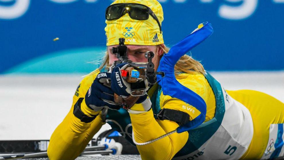 Sebastian Samuelsson, durante los juegos de Pyeongchang