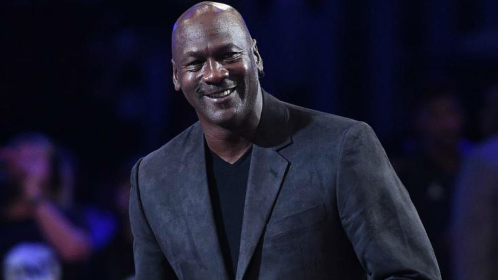 Michael Jordan durante el All Star de la NBA 2018