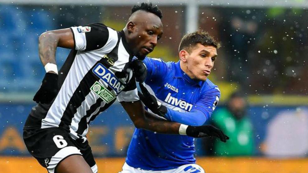 Torreira en un partido de la Serie A