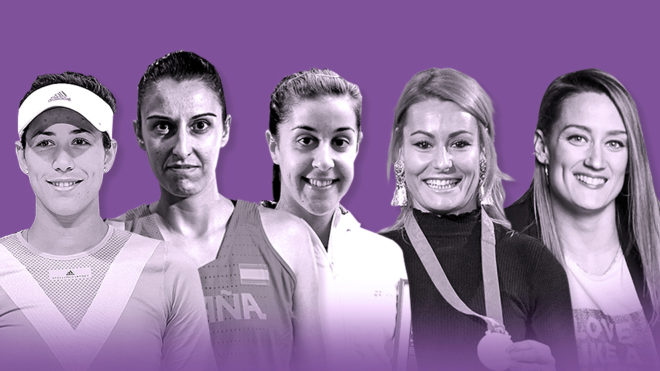 Garbiñe Muguruza, Alba Torrens, Carolina Marín, Lydia Valentín y...