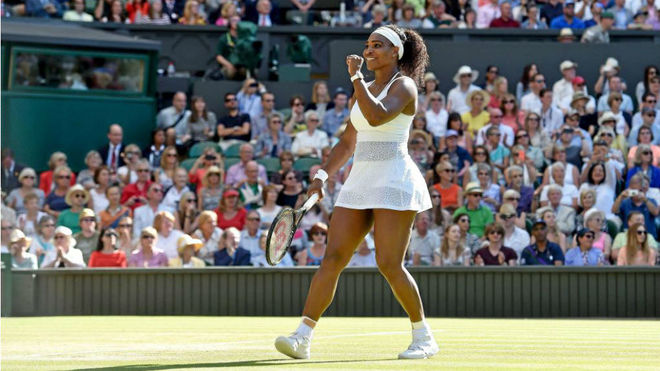 Serena Williams en Wimbledon.