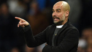 Guardiola durante el City-Basilea