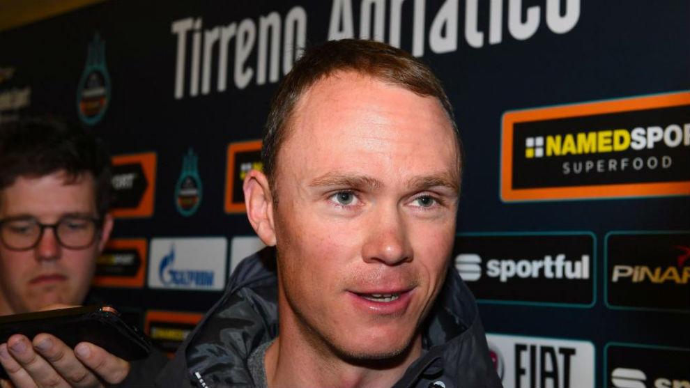 Froome en la presentación de la Tirreno-Adriático.